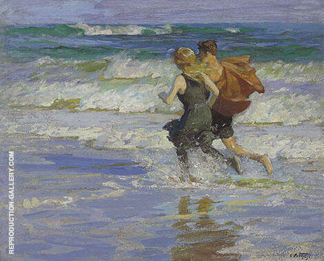 At The Beach 1918 By Edward Henry Potthast
