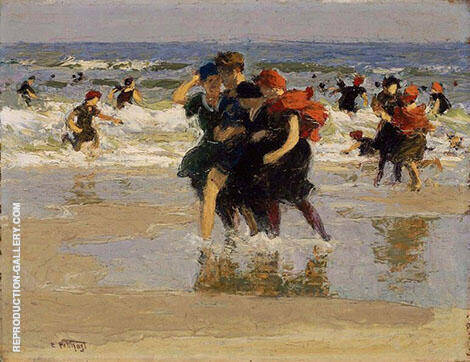 At The Seaside 1905 By Edward Henry Potthast