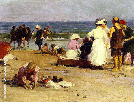 Bathers in The Surf By Edward Henry Potthast