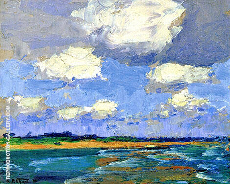 Beach 1920 By Edward Henry Potthast