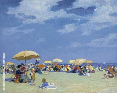 Beach at Far Rockaway By Edward Henry Potthast