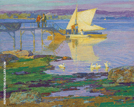 Boat at Dock By Edward Henry Potthast