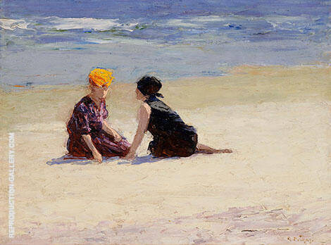 Confidences Painting By Edward Henry Potthast - Reproduction Gallery