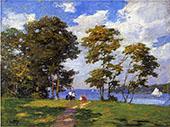 Landscape by The Shore By Edward Henry Potthast