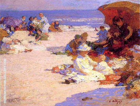 Picnickers on The Beach Painting By Edward Henry Potthast