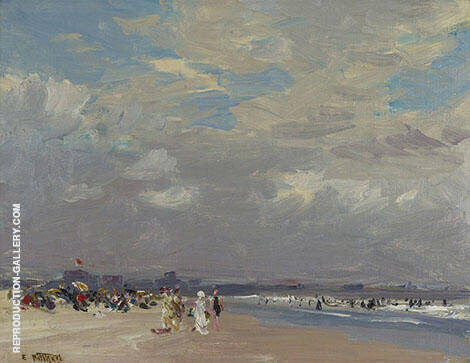 Rockaway Beach By Edward Henry Potthast