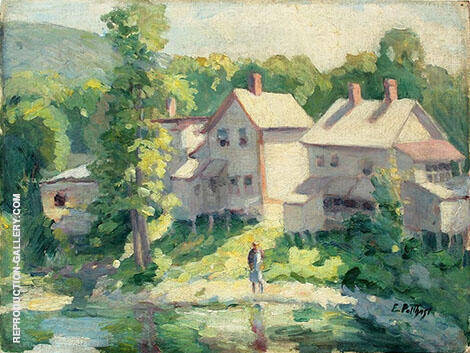 Wading 1916 By Edward Henry Potthast