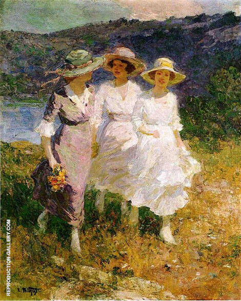 Walking in The Hills Painting By Edward Henry Potthast