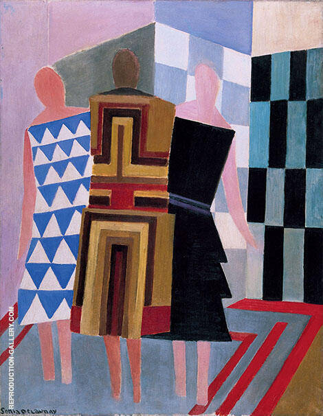 The Three Women 1925 By Sonia Delaunay