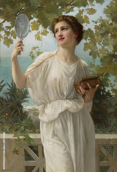 Admiring Beauty Painting By Guillaume Seignac - Reproduction Gallery
