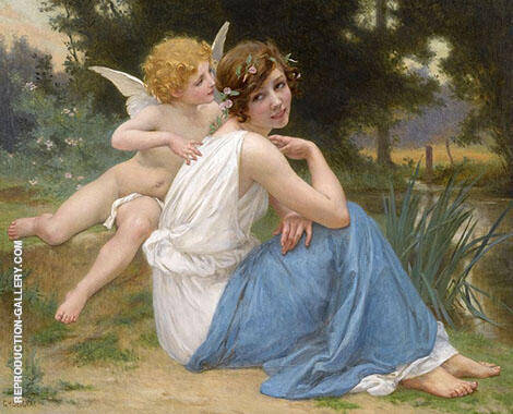 Cupid and Psyche Painting By Guillaume Seignac - Reproduction Gallery
