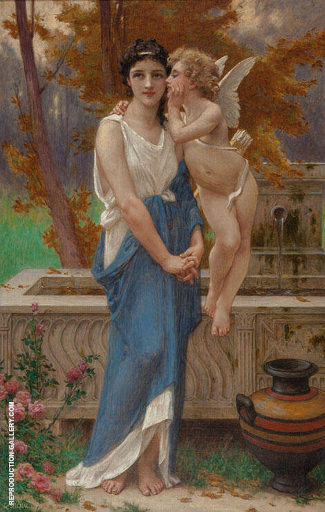 Cupid's Secret Painting By Guillaume Seignac - Reproduction Gallery