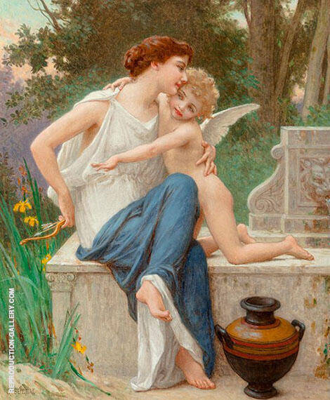 Disarming Cupid Painting By Guillaume Seignac - Reproduction Gallery