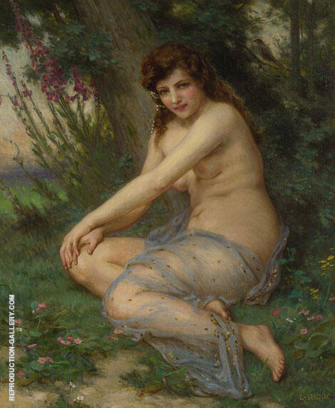 La Nymphe de la Foret Painting By Guillaume Seignac - Reproduction Gallery
