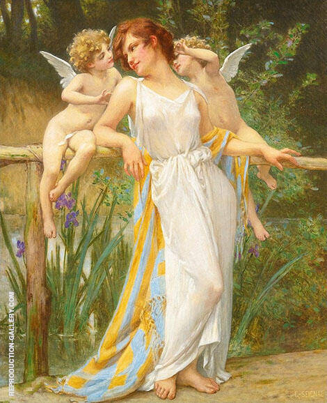 Psyche with Putti By Guillaume Seignac