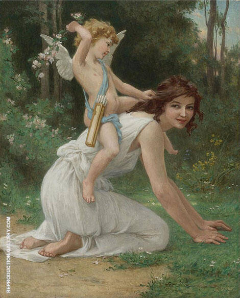 Venus and Cupid Painting By Guillaume Seignac - Reproduction Gallery