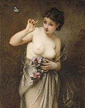 Young Girl with Butterfly By Guillaume Seignac