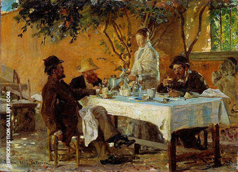 Breakfast in Sora 1880 By Peder Severin Kroyer