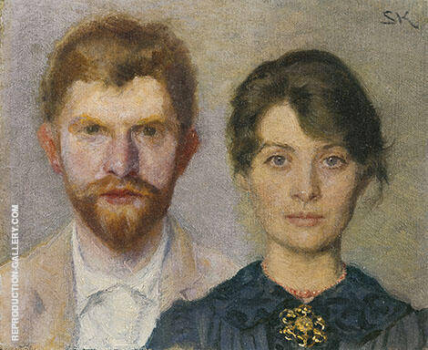 Double Portrait of Marie and Peder Kroyer 1890 By Peder Severin Kroyer