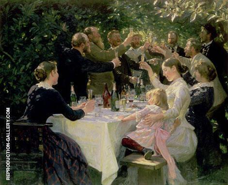 Hip Hip Hurrah 1888 By Peder Severin Kroyer