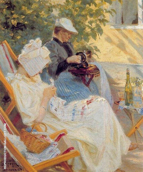 Marie and Her Mother in The Garden 1891 By Peder Severin Kroyer