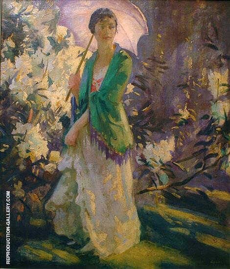 Marie in The Garden By Peder Severin Kroyer