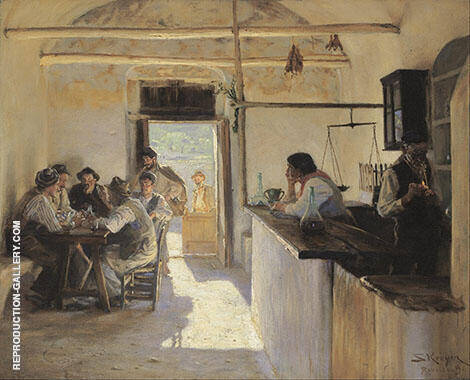 Osteria in Ravello 1890 By Peder Severin Kroyer