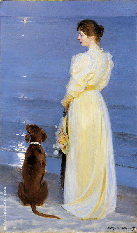 Summer Evening at Skagen 1892 By Peder Severin Kroyer