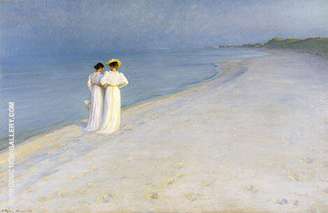 Summer Evening on Skagen's South Beach 1893 By Peder Severin Kroyer