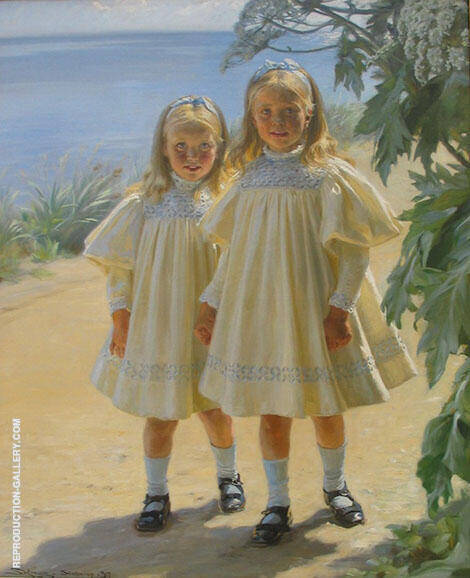 The Benzon Daughters 1897 By Peder Severin Kroyer