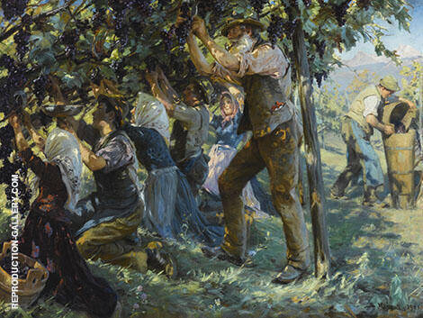 Wine Harvest in The Tyrol 1901 By Peder Severin Kroyer