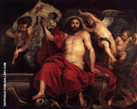 Christ Triumphant over Sin and Death Painting By Peter Paul Rubens