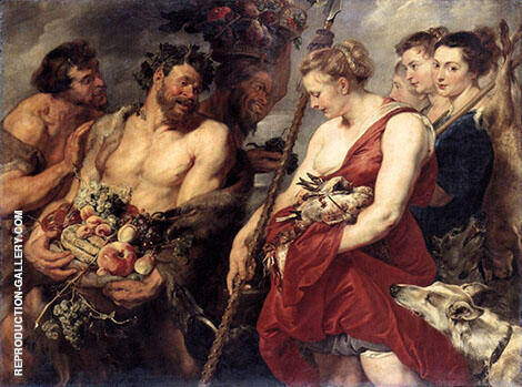 Diana Returning from Hunt By Peter Paul Rubens