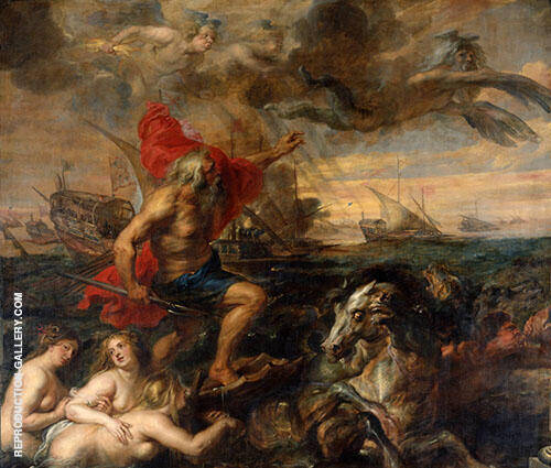Neptune Calming The Tempest By Peter Paul Rubens