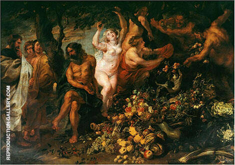 Pythagoras Advocating Vegetarianism 1618 By Peter Paul Rubens