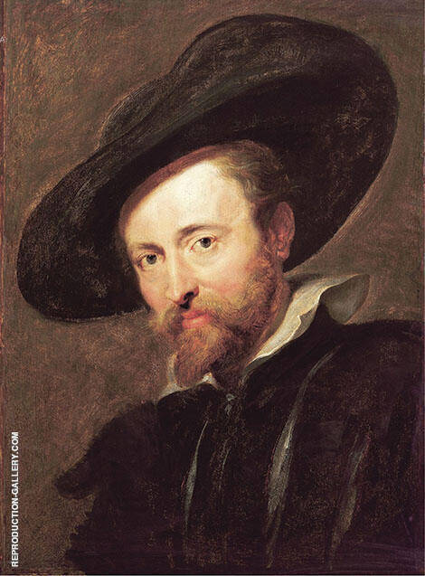 Self Portrait with Big Hat By Peter Paul Rubens