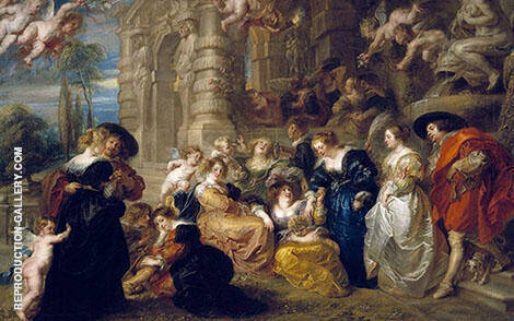 The Garden of Love 1633 By Peter Paul Rubens