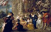 The Garden of Love 1633 By Peter Paul Rubens