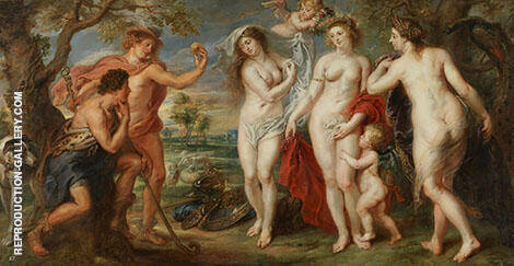 The Judgement of Paris 1638 By Peter Paul Rubens