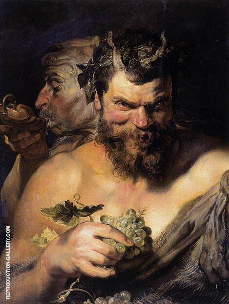 Two Satyrs By Peter Paul Rubens