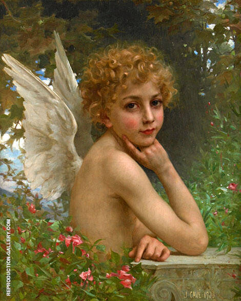 The Thoughtful Angel 1903 Painting By Jules-Cyrille Cave
