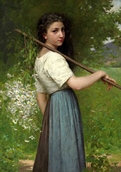 Gathering Daisies By Jules-Cyrille Cave