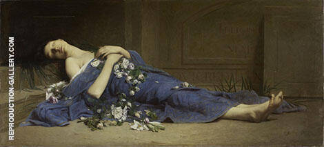 Martyr in The Catacombs 1886 Painting By Jules-Cyrille Cave