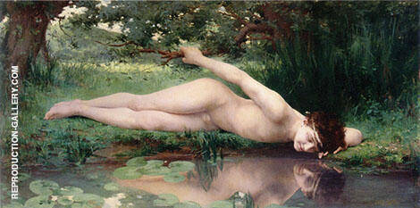 Narcissus 1890 Painting By Jules-Cyrille Cave - Reproduction Gallery
