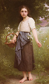 Picking Daisies 1899 By Jules-Cyrille Cave