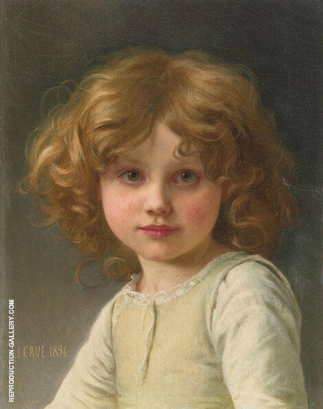 Portrait of a Girl with Curly Hair 1896 By Jules-Cyrille Cave