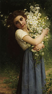 The Flower Girl 1897 By Jules-Cyrille Cave