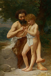 The Flute Lesson By Jules-Cyrille Cave
