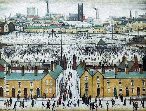 Britain at Play Painting By L-S-Lowry - Reproduction Gallery