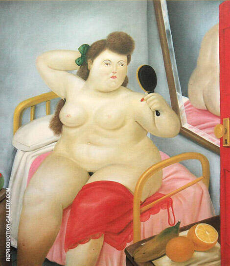 La Toilette 2 By Fernando Botero